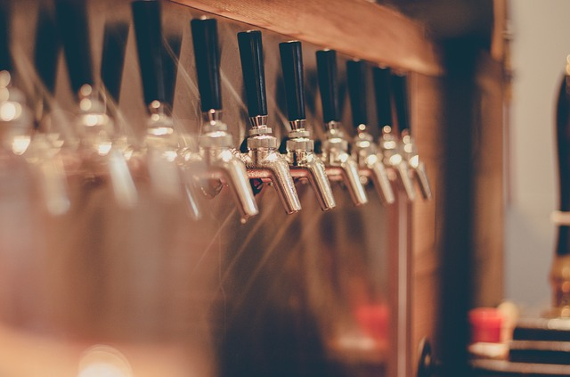 beer taps.